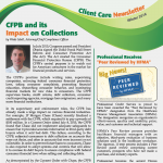 Newsletter created for Professional Credit Service using InDesign.