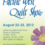 "11""x17"" poster developed for the 2013 APWQ Pacific West Quilt Show."