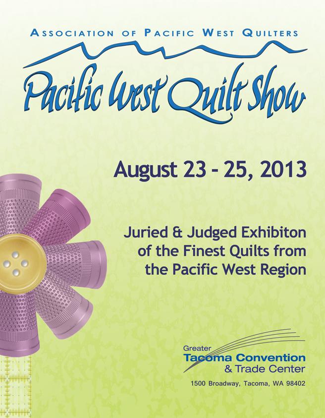 APWQ 2013 Pacific West Quilt Show program cover.